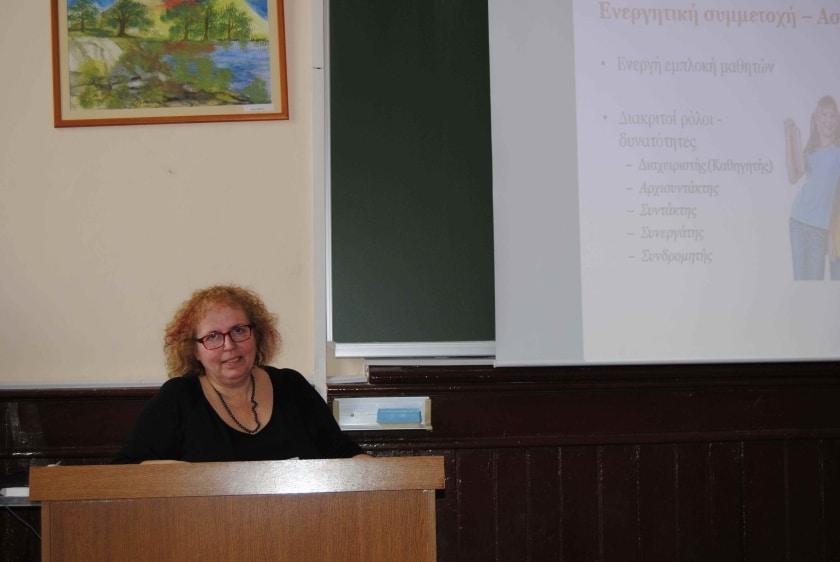 Κα Τσακίρη Μαρία. Εισήγηση με θέμα: Μελέτη της κίνησης με χρήση βιντεο-μετρήσεων και του διαδικτύου: Μία εναλλακτική διδακτική πρόταση εισαγωγής των ΤΠΕ στη διδασκαλία της Φυσικής